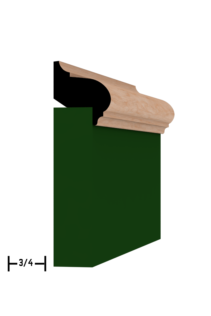 Base Cap 1341 Hardwood Moulding Molding