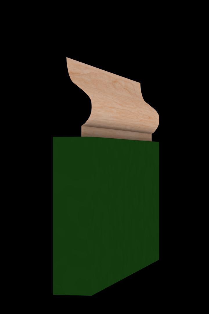Base Cap 1441 Hardwood Moulding Molding