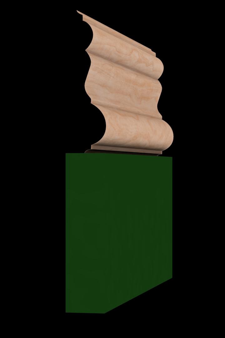 Base Cap 1460 Hardwood Moulding Molding