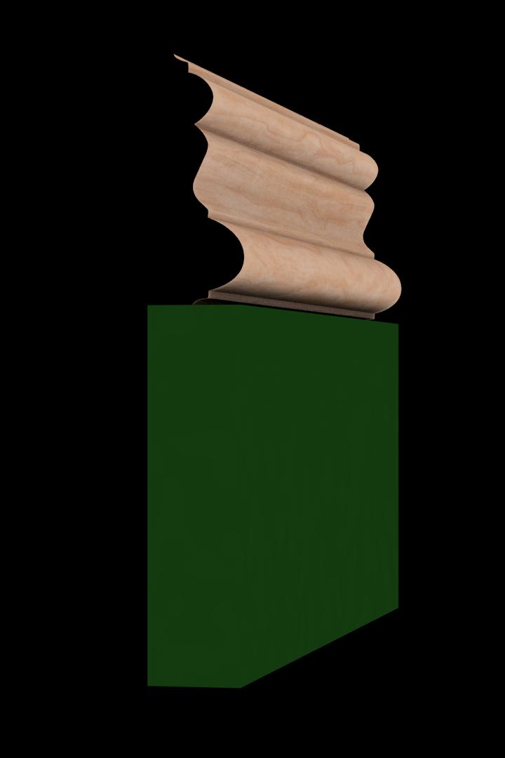 Base Cap 1461 Hardwood Moulding Molding