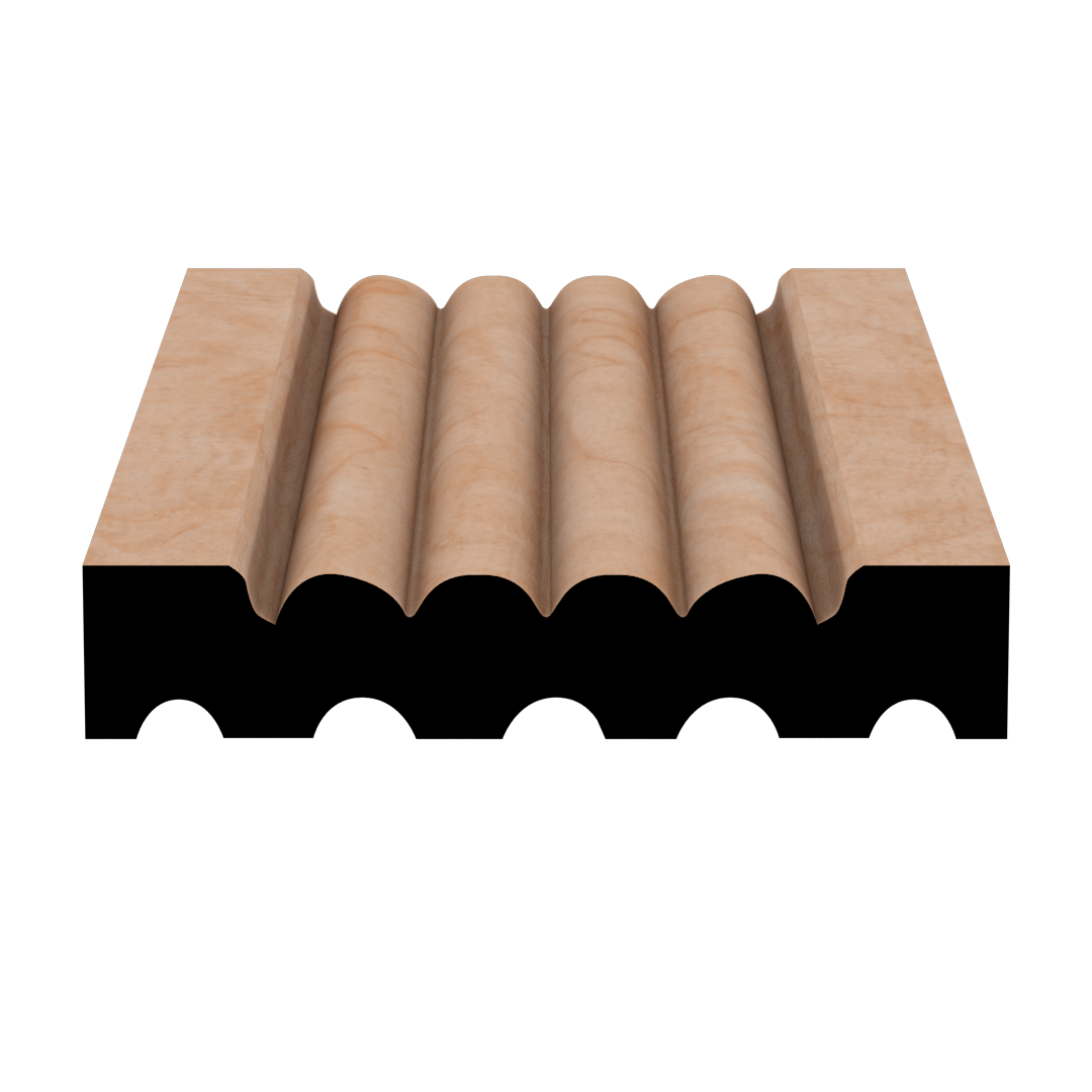 Fluting 9700 Hardwood Moulding Molding