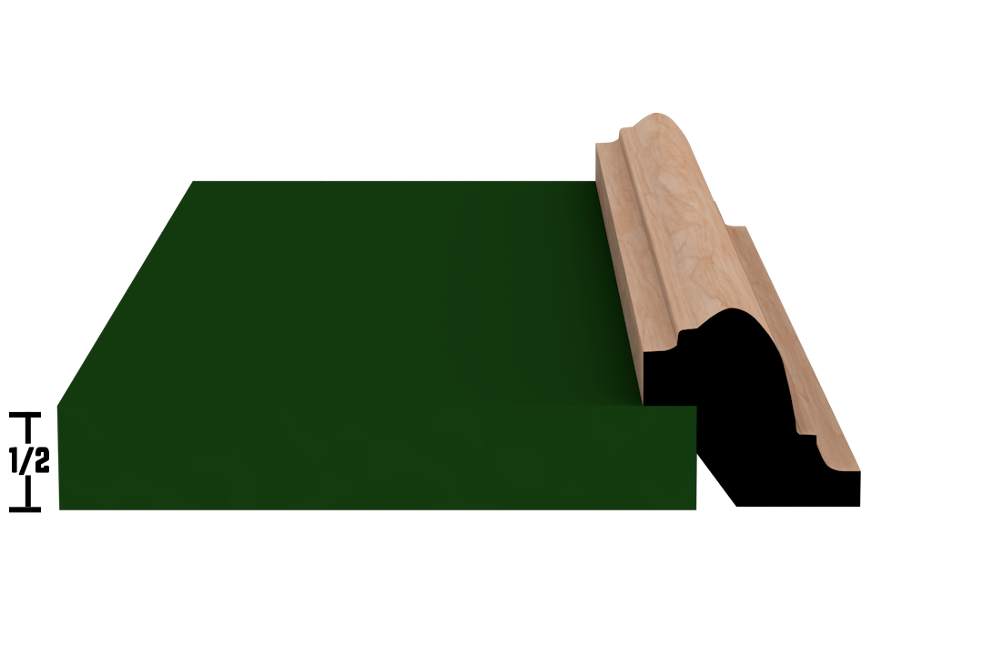 Rabbet 1340 Hardwood Moulding Molding