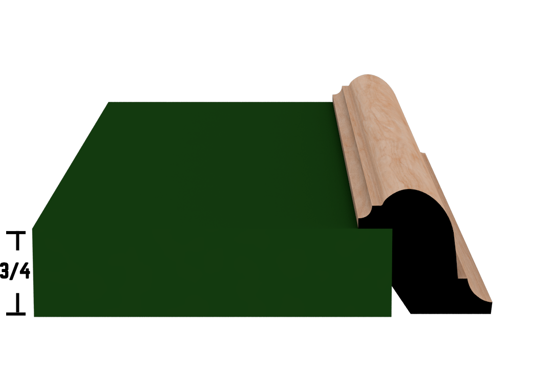 Rabbet 1341 Hardwood Moulding Molding