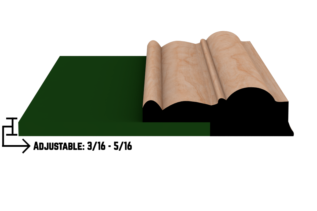 Rabbet 1380 Hardwood Moulding Molding